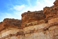 De rotsen van het zandsteen in woestijn Royalty-vrije Stock Foto's