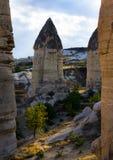 De rotsen van Kapadokian Stock Fotografie