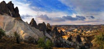 De rotsen van Kapadokian Royalty-vrije Stock Afbeeldingen