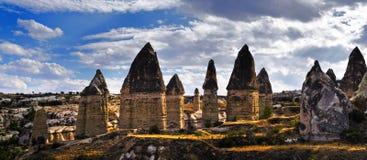 De rotsen van Kapadokian Royalty-vrije Stock Afbeelding