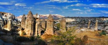 De rotsen van Kapadokian Royalty-vrije Stock Foto's