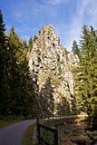De rotsen van Nonnen in Erzgebirge Royalty-vrije Stock Afbeeldingen