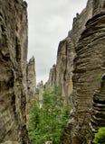 De Rotsen van Prachov van de rotsstad Stock Foto