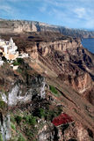 De rotsen van Santorini royalty-vrije stock fotografie