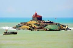 De rotsgedenkteken van Vivekananda Royalty-vrije Stock Afbeeldingen