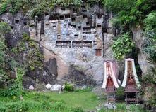 De rotsgezicht van Tanatoraja Royalty-vrije Stock Afbeeldingen