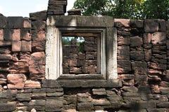 De Rotskasteel van Prasathin in het Historische Park Nakonratchasima van Phimai Stock Foto's