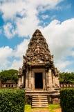 De Rotskasteel van Prasathin in het Historische Park Nakonratchasima van Phimai Royalty-vrije Stock Afbeeldingen