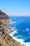 De rotskust van de Atlantische Oceaan (Zuid-Afrika). Stock Afbeelding