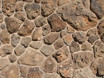 De rotsmuur van het basalt Stock Foto