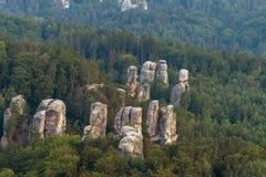 De rotsstad van Hrubaskala stock afbeeldingen