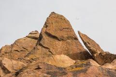 De Rotstekening op tamgaly-Tas, Kazachstan Royalty-vrije Stock Foto's