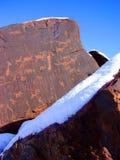De Rotstekeningen van New Mexico Stock Afbeeldingen