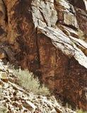 De rotstekeningen van Parowangap royalty-vrije stock afbeeldingen