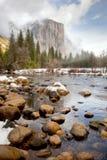 De rotsvorming van Yosemite Stock Afbeeldingen