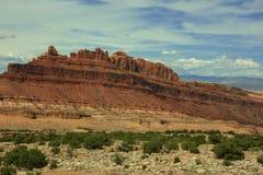 De rotsvormingen Utah van Mesa Royalty-vrije Stock Afbeelding