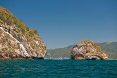 De rotsvormingen van Cabo San Lucas Stock Foto's