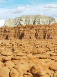 De rotsvormingen van de Vallei van de kobold en mesas Royalty-vrije Stock Foto