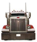 De rouge camion semi Image libre de droits
