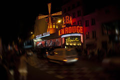 De Rouge van Moulin, Parijs - royalty-vrije stock afbeelding