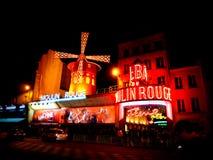 De Rouge van Moulin, Parijs Stock Afbeelding