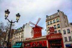 De Rouge van Moulin parijs Stock Afbeelding
