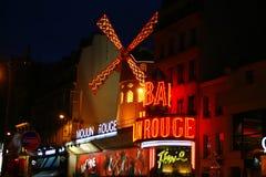 De Rouge van Moulin in Parijs, Frankrijk Royalty-vrije Stock Foto