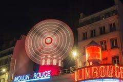 De Rouge van Moulin in Parijs, Frankrijk Royalty-vrije Stock Foto's