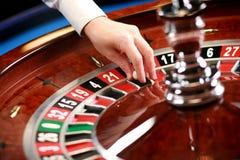 De roulette van het casino weel Stock Fotografie