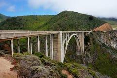 De Route Hwy van de Staat van de Bixbybrug 1 Californië Geen Auto's stock fotografie