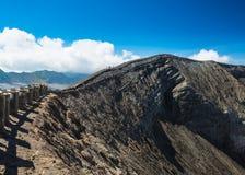 De route van de Batoktrekking van Bromo-berg Stock Foto