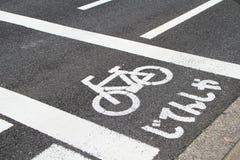 De route van de fiets Stock Foto's