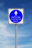 De Route van de orkaanevacuatie Stock Fotografie