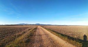 de route van de grintweg royalty-vrije stock afbeelding