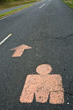 De Route van het Embleem van Ironman vooruit Stock Afbeeldingen
