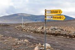 De Route van het Kjölurhoogland Royalty-vrije Stock Foto