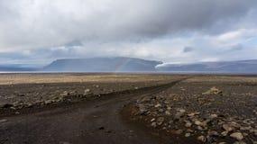 De Route van het Kjölurhoogland Stock Afbeeldingen
