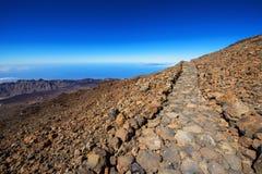 De route van het landschap op Onderstel Teide Stock Afbeelding