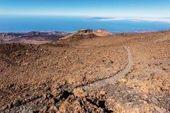 De route van het landschap op Onderstel Teide Royalty-vrije Stock Afbeeldingen