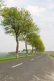 De route van het platteland Royalty-vrije Stock Afbeeldingen