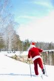 De route van Santa?s Stock Foto