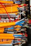 De router van de testkabel Stock Foto's