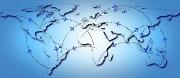 De Routes van de vlucht Stock Foto's
