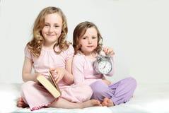 De routine van de jonge geitjesbedtijd, verhaalboek Stock Afbeelding
