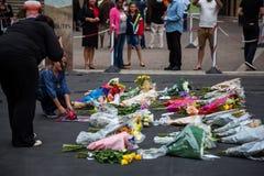 De rouwdragers verzamelen zich voor Mandela Stock Fotografie