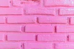 De roze achtergrond van de bakstenen muurtextuur Stock Afbeelding