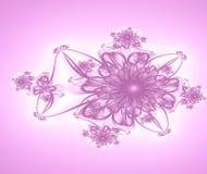 De roze Achtergrond van de Bloem stock illustratie