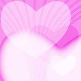 De roze Achtergrond van de Dag van Valentijnskaarten Stock Afbeelding