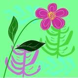 De roze achtergrond van het bloem vectorontwerp Stock Foto