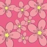 De roze achtergrond van het bloempatroon Royalty-vrije Stock Foto's